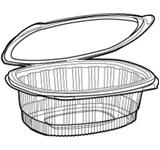 ClearView Deli APET Containers PTVCA9-1008