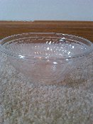 CLEAR PLASTIC BOWL SWHCR8X