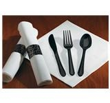 CaterWrap Linen-Like Dinner Napkins with Cutlery HFM119971